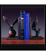 EAGLE Bookends  Bronze Sculpture Statue Book Case Resin Bookshelf American - $69.00