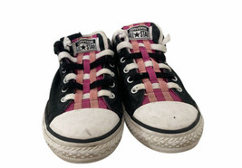 Converse All Star Juniors Size 5 Women's 6.5 Sneakers Shoes Black Pink W... - $18.70