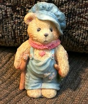 """Cherished Teddies 1994 Tiny Ted-Bear with Crutch """"God Bless Us All"""" 614777 - $5.90"""
