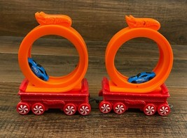 McDonald's Mattel Hot Wheels Car Racing Track Loop Toy Holiday Train Pie... - $8.86