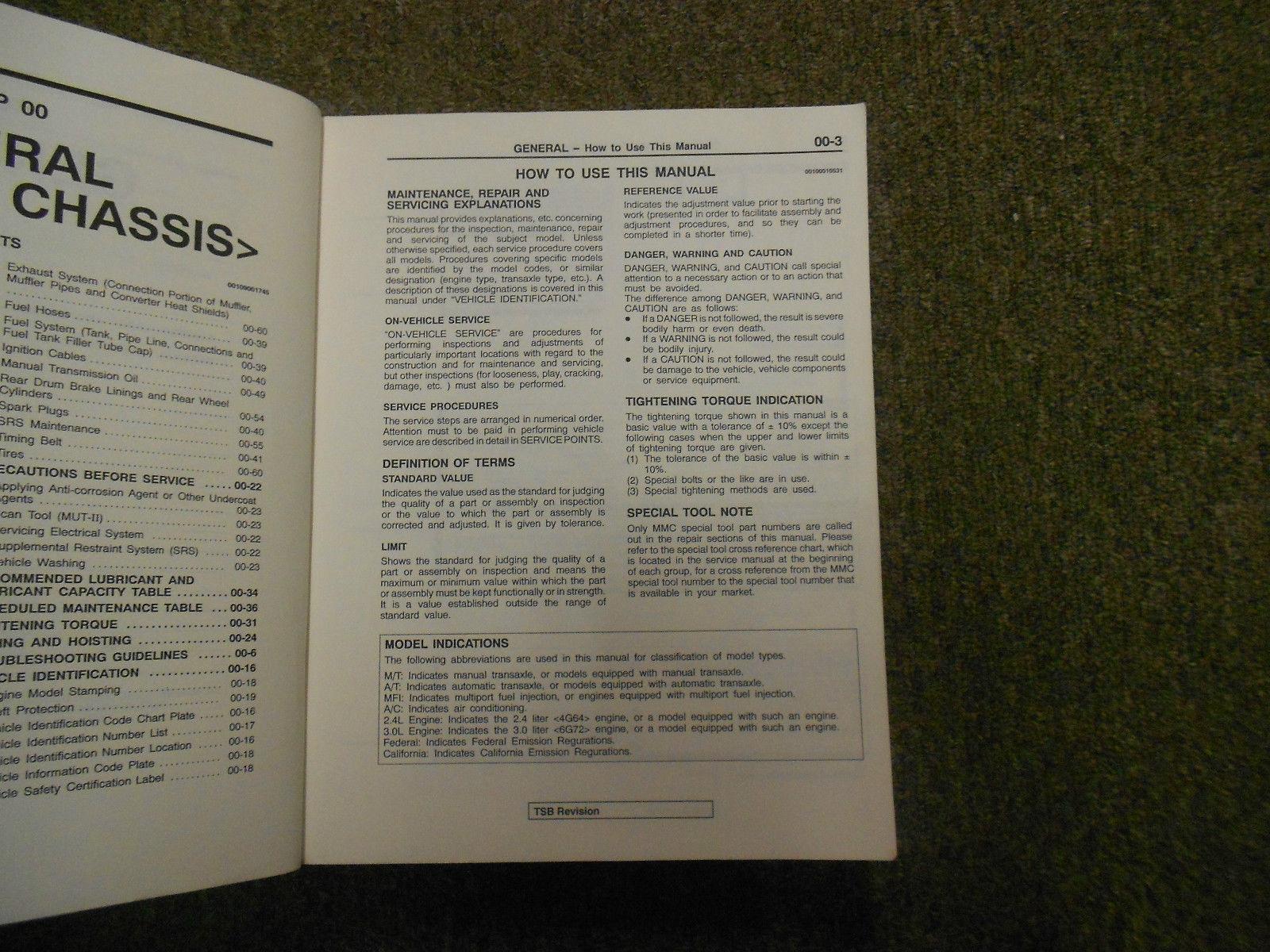 1999 2000 MITSUBISHI GALANT Service Shop Manual SET OEM DEALERSHIP BOOKS 1st EDI image 4
