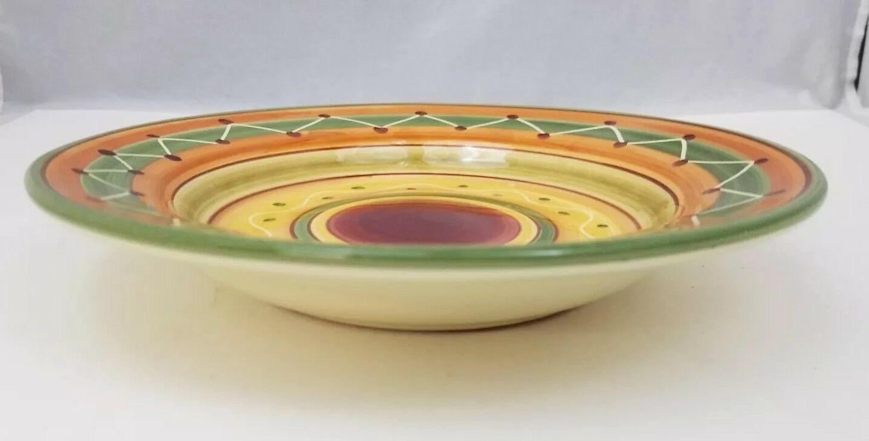 "Pier 1 Etrusco 9.5"" Soup Pasta Bowl Handpainted Dishwasher Safe Made Italy image 4"