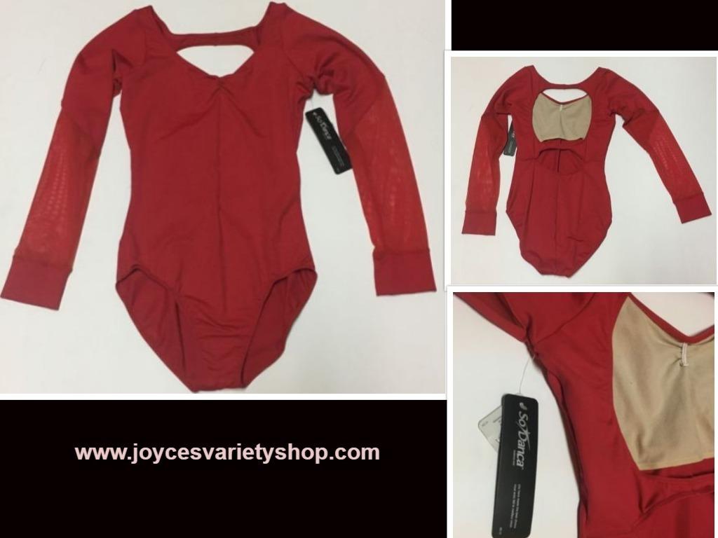 Red so danca leotard web collage