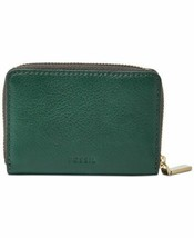 Fossil Mini Wallet RFID Mini Zip Card Case Wallet Handbags  (Apline Green) - $24.75