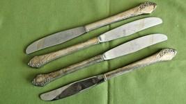 """Oneida Tudor Plate Together Pattern 4 Dinner Knives 1956 Floral 8 5/8""""  - $16.82"""