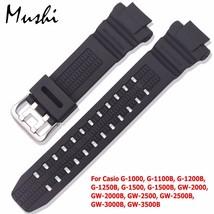 Watchband-for-Casio-GW-3500B-GW-3000B-GW-2000-Sport-Watch-Band-Black-Sof... - $32.40