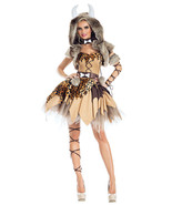 Party King Prehistoric Honey Cavewoman Dress w/ Hooded Faux Fur Costume ... - $89.99+