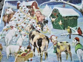 """Bits and Pieces Puzzle 300 Ruane Manning Holiday Farm 18"""" x 24"""" New - $19.79"""