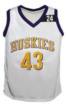 K.Tyler #43 The 6th Man Movie Huskies Basketball Jersey New White Any Size image 1