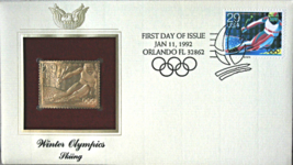 WINTER OLYMPICS - Skiing  FIRST DAY OF ISSUE STAMP: Jan. 11, 1992 - $8.50