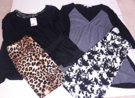 Women sz Small lot 4: H&M Divided Lace Black Top Animal Print Skirt Max ... - $4.36