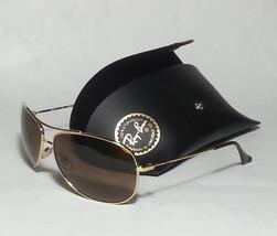 Ray-Ban RB3293 63mm Men Aviator Sunglasses Gold Frame Brown Lens 63x13x1... - $77.55
