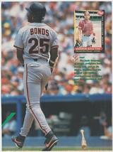 San Francisco Giants Barry Bonds 1993 Pinup Photo 8x10  - $1.99