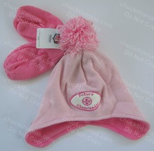 Pittsburgh Steelers Pink Knit Hat w Mittens Future Cheerleader Patch NEW w Tag - $9.95