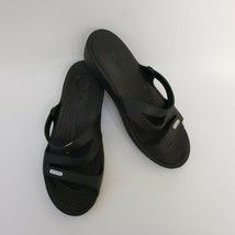 Crocs Womens Shoes Sandals Black Size US 7 - $39.55