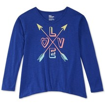 Epic Threads Girls' Love & Arrows T-Shirt, Midnight Lapis, Size XL - $11.29