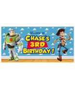 Toy Story Woody and Buzz Birthday Banner - $22.28