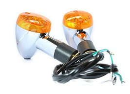 Front Rear Turn Signal Blinker Indicator Amber Chrome Bullet Light for HONDA SUZ - $17.44