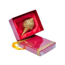 MP Crafts Brass Shankh Conch Shell Flower Design Gift for Pooja, Home Te... - $36.80