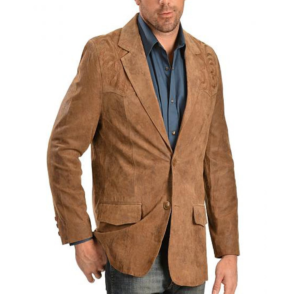 Classic Style Men Leather Blazer