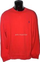 NWT POLO RALPH LAUREN XL orange pullover crew neck sweatshirt mesh men's - $58.19