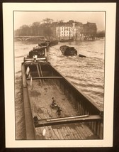 WILLY RONIS Photograph La Peniche Paris 1959 9x12 Lithograph Portfolio P... - $23.19