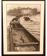 WILLY RONIS Photograph La Peniche Paris 1959 9x12 Lithograph Portfolio P... - $23.19