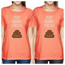 Poop Buddies BFF Matching Peach Shirts - $30.99+