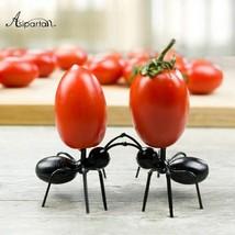 12er Set Obstgabel Wiederverwendbare Kawaii Ameisenfruchtgabel Snack Ges... - $6.09