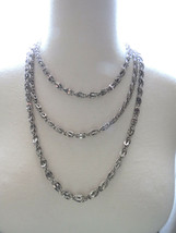 "Multi Chain 18"" - 27"" Unmarked Designer VTG Silver Tone Necklace Quality Nice! - $19.79"