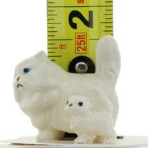 Hagen Renaker Miniature Cat and Kitten Fat White Persian Ceramic Figurine Set image 2