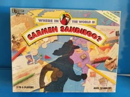 Where In The World Is Carmen Sandiego Vtg Board Game.INCOMPLETE.CHECK PH... - $15.88