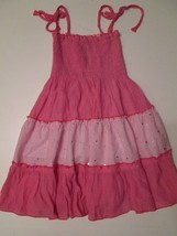 Lele for Kids Girl's Dress Size 6X Pink Sleeveless Sparkly  #W6 - $12.99