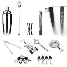Bar Set Kit by 34andMore - Professional 17 Piece Cocktail Barware Set - ... - $593,28 MXN