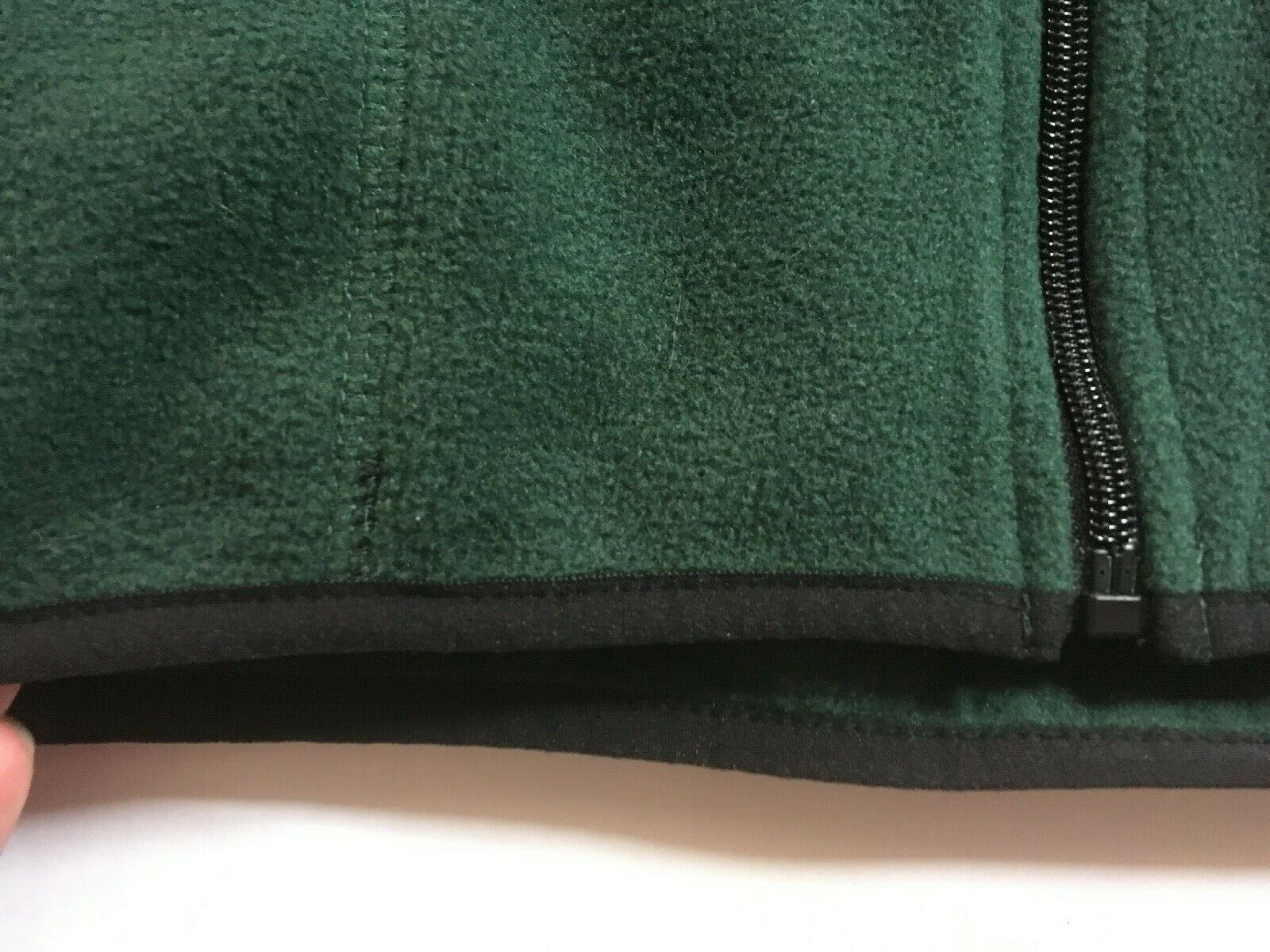 IZOD Full-Zip Polar Fleece Jacket Big & Tall Hunter Green w/ Black Trim 2XLT $70 image 6