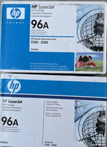 lot of 2 pk  HP 96A (C4096A) Black Toner Cartridge LaserJet 2100 / 2200 - $34.64