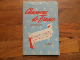 Old Vintage 1941 Chanson de Songs of France Book Piano Accompaniment Vig... - $9.99