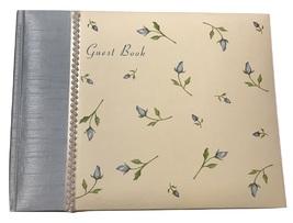 Pepperpot Vineyard Blue Flowers Wedding Guest Book - $17.81