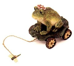 """Boyds Pull Toy """"Lily the Frog"""" - #654251 -Frog Pull Toy- 2003 - Retired - $22.99"""
