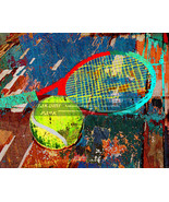 Artistic Tennis Decor, Unique Sports Art Print, Poster Print, Wall Decor... - $15.88+