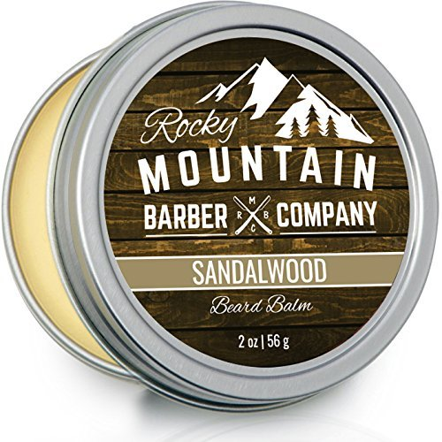 Beard Balm – Sandalwood Blend - Rocky Mountain Barber – with Nutrient Rich Bees