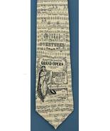 Mens Museum Artifacts Neck Tie Metropolitan Grand Opera Music Silk Beige... - $39.55