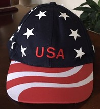 USA Baseball Hat Cap Red White And Blue Patriotic - $14.84