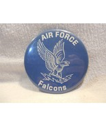 """Vintage 1970's Air Force Falcons Football Large Pinback Button 3 1/2"""" - $15.95"""