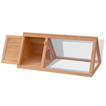 Wooden Outdoor Triangle Rabbit Hutch Guinea Pig Cage Pet House Small Ani... - $47.99