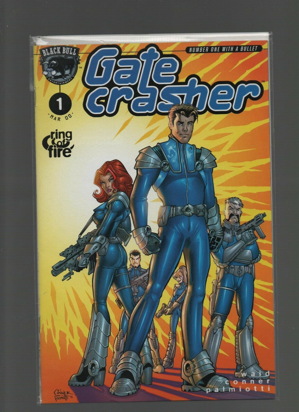 Gate Crasher #1 - March 2000 Black Bull - Ring of Fire - Wald, Conner, Palmiotti