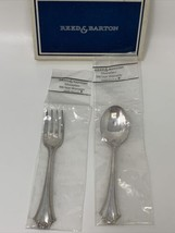 French Chippendale ~ 2 pc BABY SET ~ Reed & Barton Silverplate ~ NEW in ... - $28.45