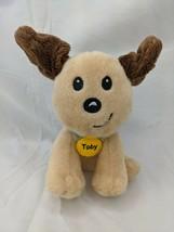 "Unipak Toby Dog Plush 5"" Tan Brown 2018 Stuffed Animal Toy - $5.95"