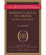 Robert's Rules of Order Newly Revised Henry M. Robert III; Daniel H. Hon... - $11.87