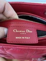 AUTH Christian Dior Lady Dior Medium RED Cannage Lambskin Tote Bag GHW image 13